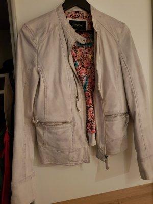 Oakwood Faux Leather Jacket light grey