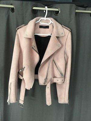 Zara Veste en cuir synthétique or rose