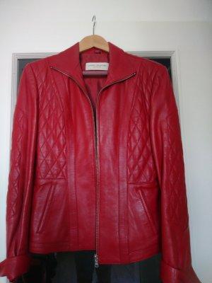 Lederjacke rot von Caren Pfleger - Gr. 40 - tolles Leder