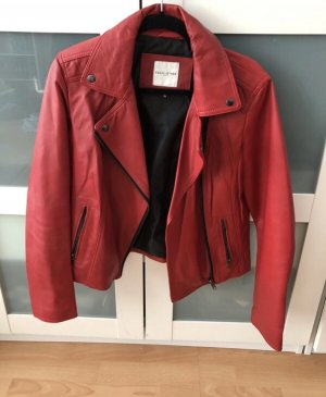 Lederjacke Rot XL