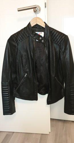 AJC Skórzana kurtka czarny