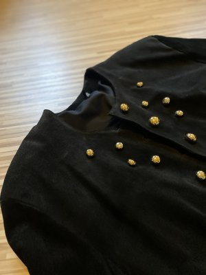 Leather Blazer black-gold-colored leather