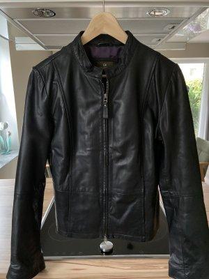 Lederjacke * schwarz * Größe 40