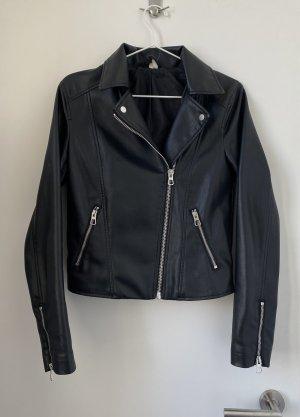 Lederjacke schwarz H&M Bikerjacke