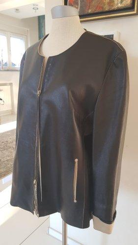 Lederjacke schwarz in Größe 40