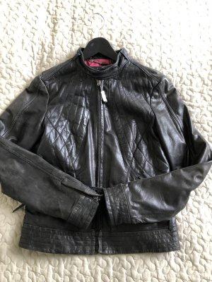 Lederjacke schwarz Trussardi