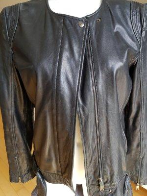 Strenesse Veste en cuir noir