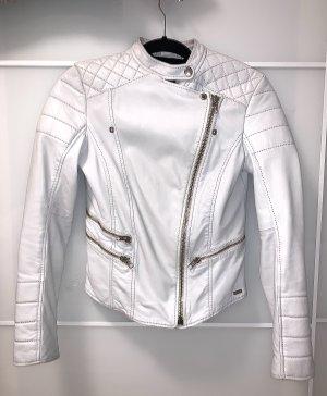 Tigha Leather Jacket light grey-white