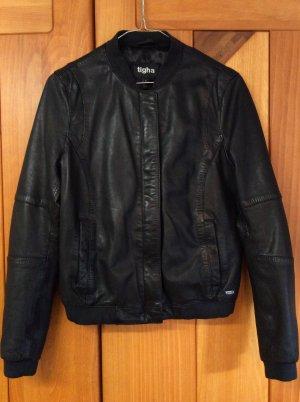 Tigha Leather Jacket black leather