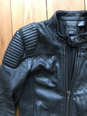 Giacca in pelle nero