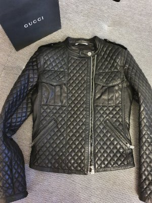 Trussardi Leather Jacket black leather