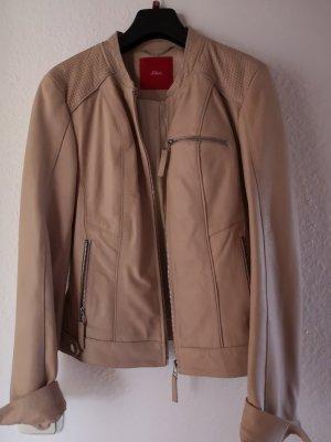 s.Oliver Leather Jacket dusky pink leather