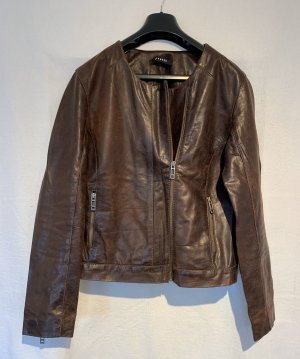 0039 Italy Biker Jacket cognac-coloured-brown