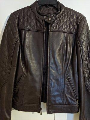 Jones New York Leather Jacket taupe leather
