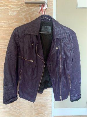 Alexander McQueen Leather Jacket dark violet