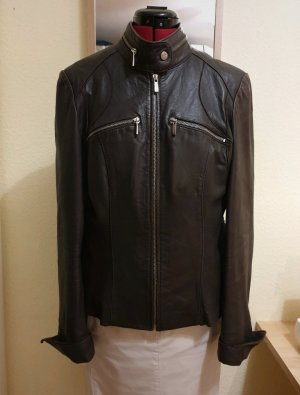 Arma Collection Leather Jacket dark brown-black brown leather