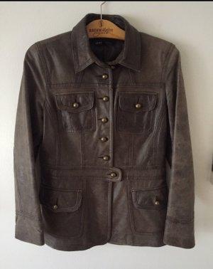 Arma Collection Veste en cuir brun cuir