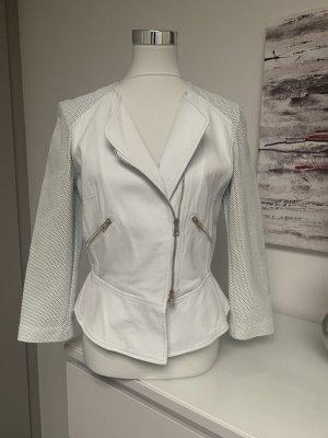 Atos Lombardini Veste en cuir blanc cuir