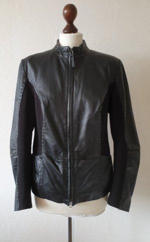 Lederjacke von Bonita * Gr.40 * schwarz * Materialmix