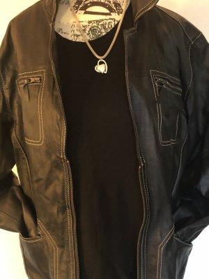 Bonita Leren blazer zwart