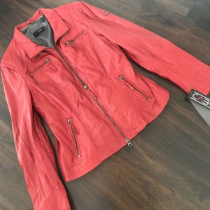 Cabrini Leather Jacket dark red