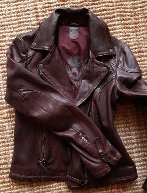 Gypsy Giacca da motociclista marrone scuro Pelle
