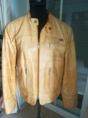 H.I.S Leather Blazer sand brown leather