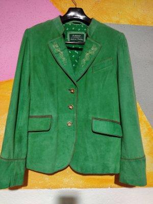 H.Moser Tradycyjna kurtka zielony Skóra