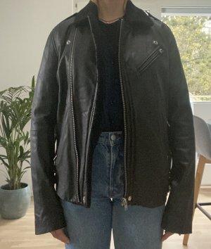 Lederjacke von Iro in Größe S mit Lammfell in Schwarz