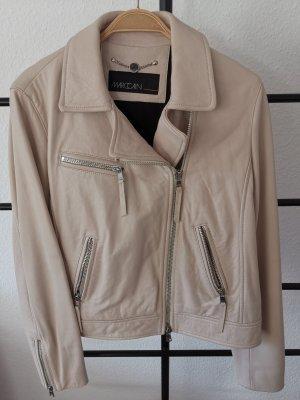 Marc Cain Leather Jacket oatmeal