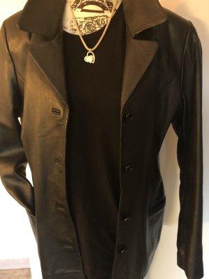 Mauritius Blazer en cuir noir cuir