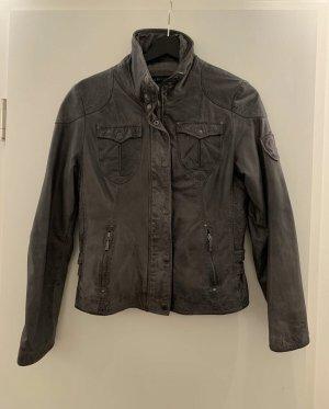 Mauritius Leather Jacket grey