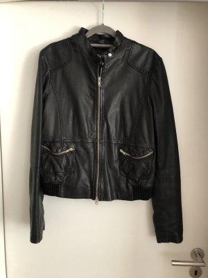 Lederjacke von Max&Co. in schwarz