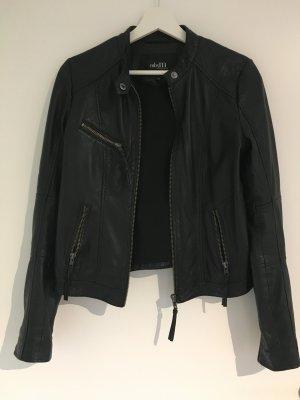 mbyM Veste en cuir noir cuir