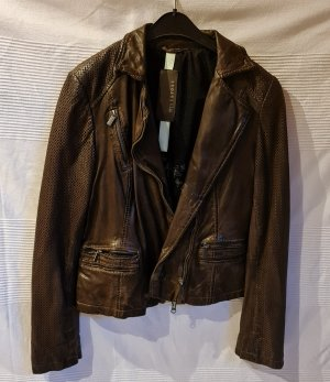 Milestone Leather Jacket dark brown