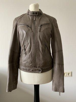 Oakwood Leather Jacket beige leather