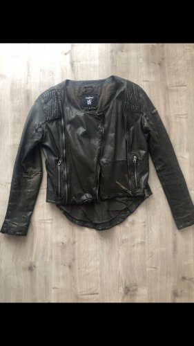 Tigha Leather Jacket taupe