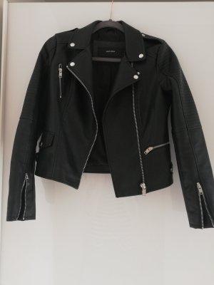 Vero Moda Faux Leather Jacket black-silver-colored