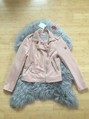 Zabaione Leather Jacket pink
