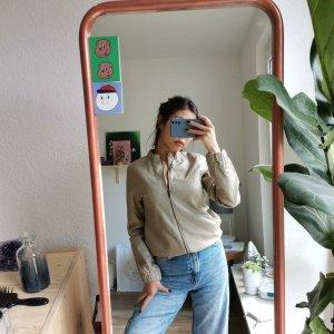 Lederjacke von Zara in beige