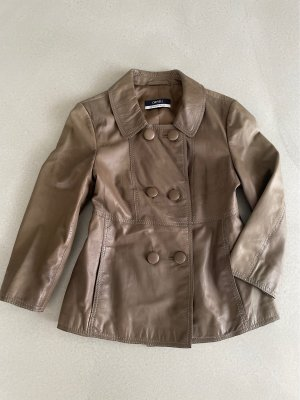 Orwell Leather Jacket grey brown