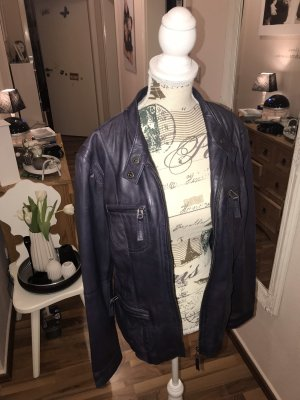C&A Leather Jacket blackberry-red