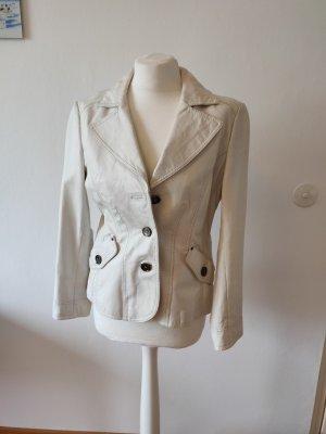 Tom Tailor Robe en cuir blanc