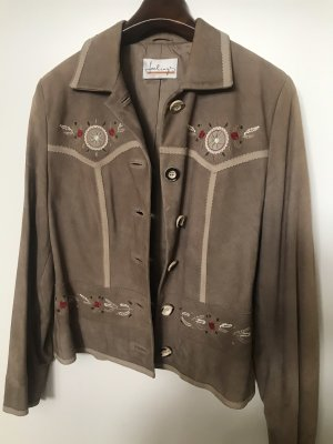 Feelings Leather Jacket beige