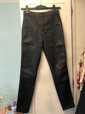 Asos Denim Pantalon taille haute noir