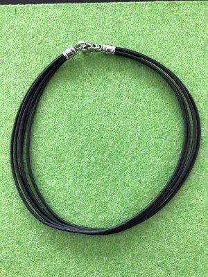Bulgari Collier argenté-noir