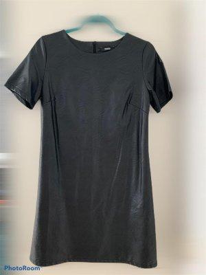 Colloseum Skórzana sukienka czarny