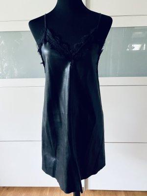 H&M Divided Robe en cuir noir