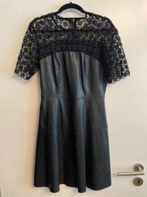 Vintage Dressing Robe en cuir noir