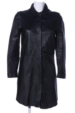 Vestito in pelle nero stile casual